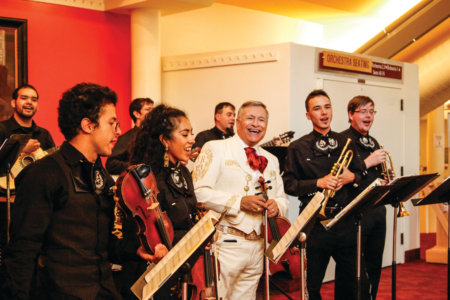 The Mariachi Ensemble perform on Sept 15, 2016 at the Boettcher Concert Hall for the event El latir de Mexico. -Photo by Sara Beet