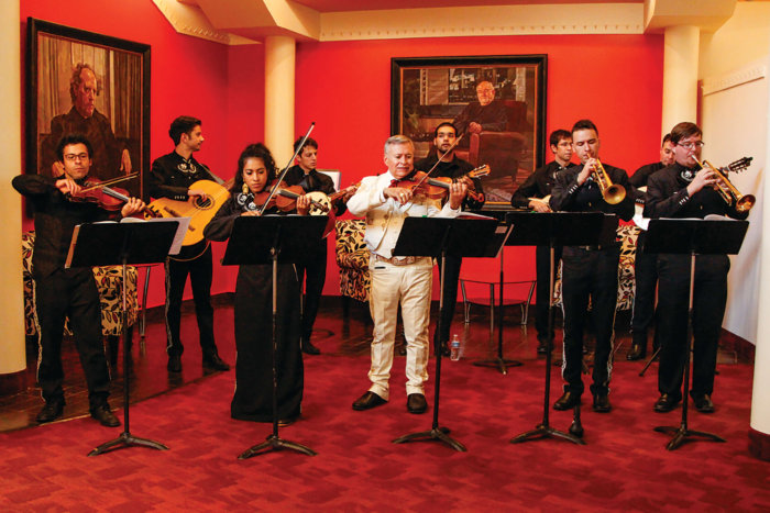 Students in the Mariachi Ensemble at MSU Denver perform at the Boettcher Concert Hall Photo by Sara Beet